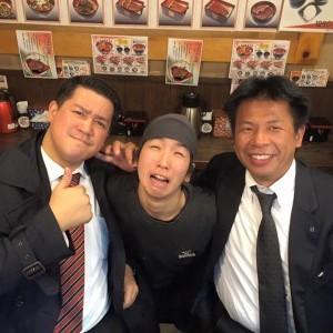 11/28 飲み会 宇奈とと店長真ん中 社長 坂原さん