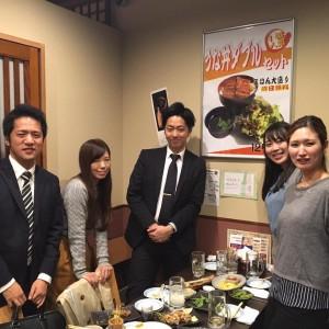 11/28 飲み会 大貫さん篠塚さん松木さん歓迎会
